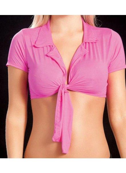 Espiral Lingerie Geknoopte top (neon pink)