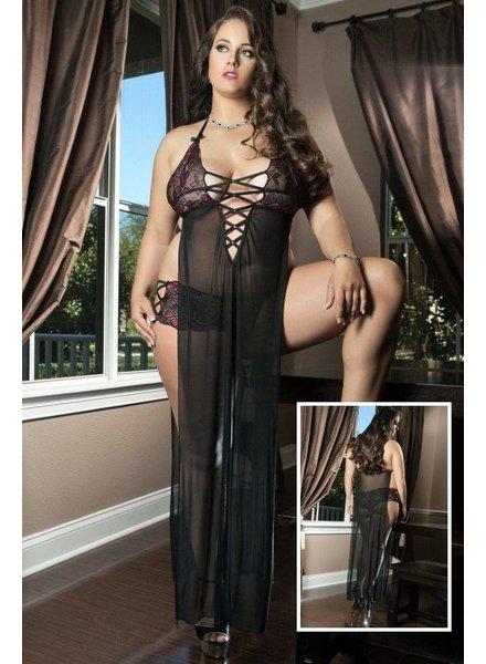 G World Intimates Sexy zwarte lingerie-jurk