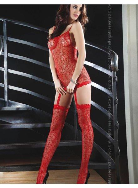 LivCo Corsetti Bodystocking Catriona (red)