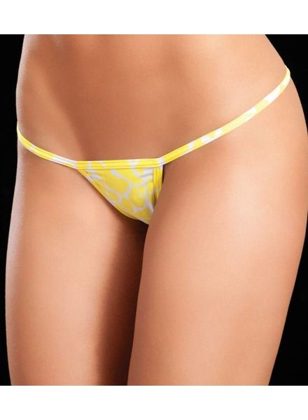 Espiral Lingerie Y-back string (animal yellow)