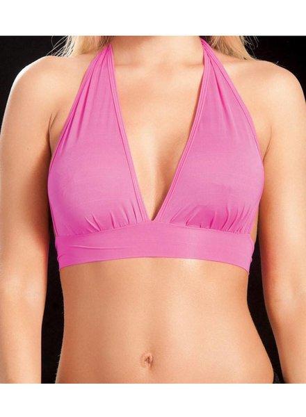 Espiral Lingerie Halter top (neon pink)