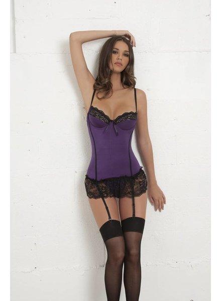 Oh La La Cheri Bustier met kant (purple/black)