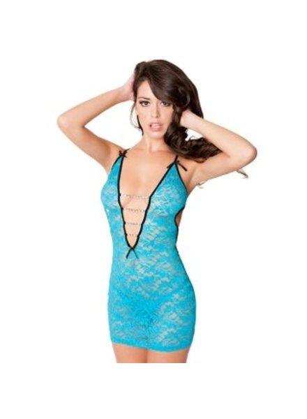 Oh La La Cheri Sexy open babydoll (turquoise)