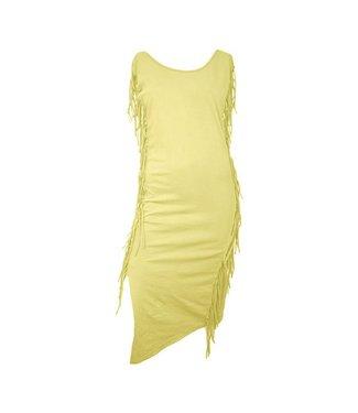 Fringe jurk (yellow)