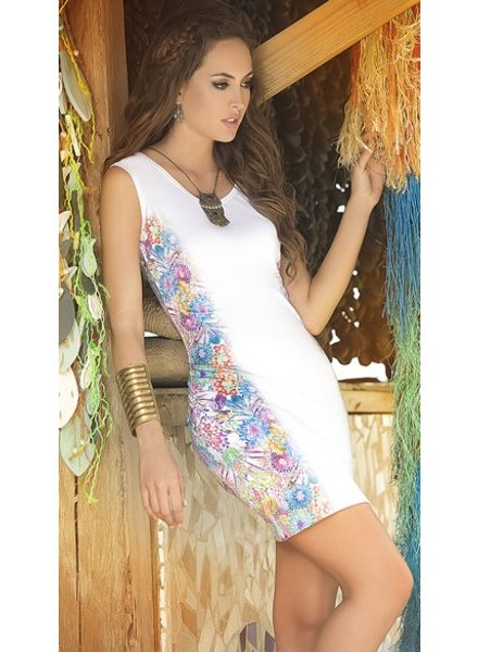 Espiral Lingerie Wit jurkje bloemenprint