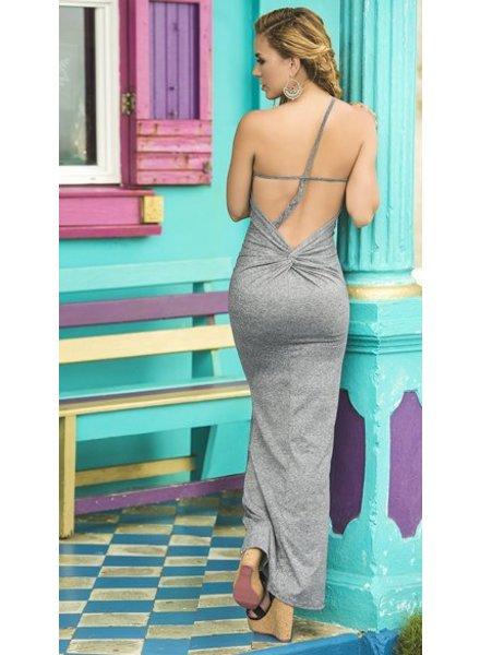 Espiral Lingerie Grijze maxi jurk