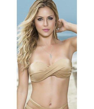 Espiral Lingerie Bandeau bikini top (goud)