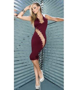 Espiral Lingerie Bordeaux rode jurk