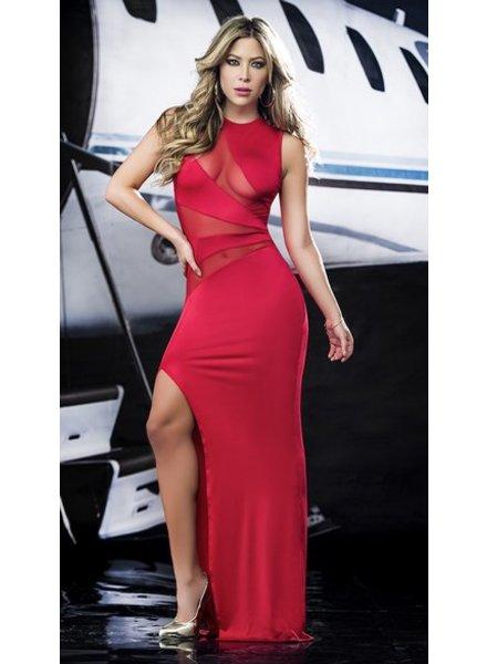 Espiral Lingerie Rode semi-transparante jurk