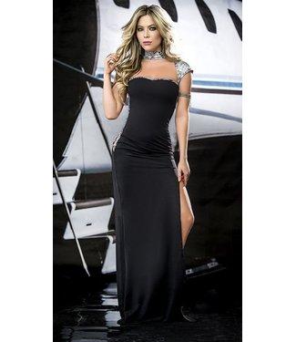Espiral Lingerie Zwarte lange jurk