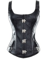 Leatherlook corset met schouderbanden