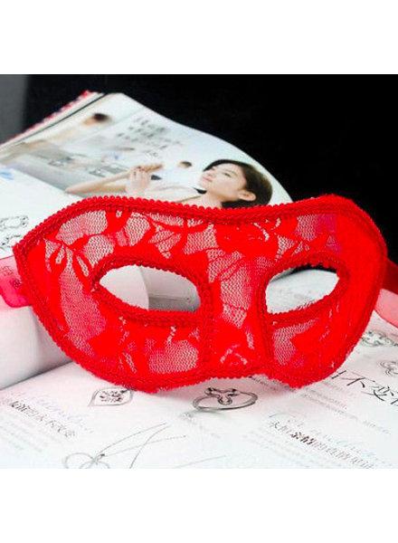 Rood Venetiaans masker (kant)