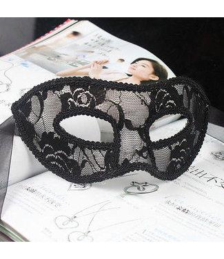 Zwart Venetiaans masker (kant)