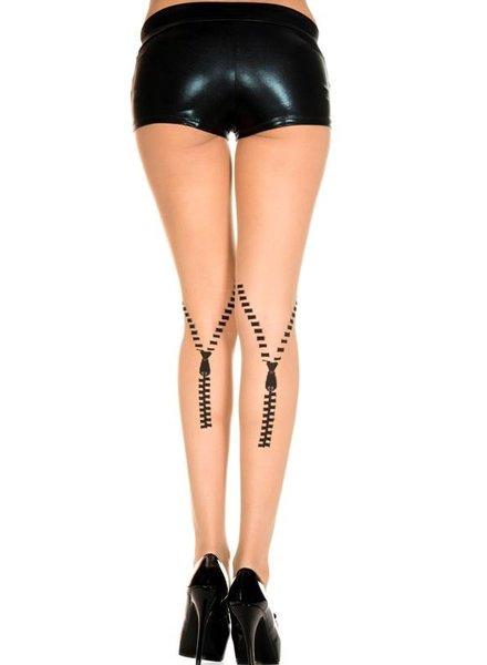 Music Legs Panty met rits print