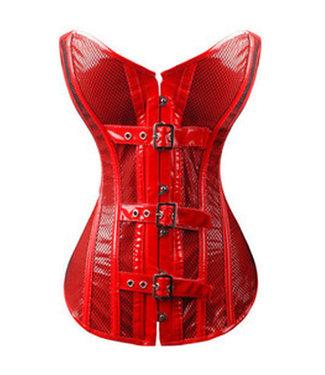 Rood pvc corset