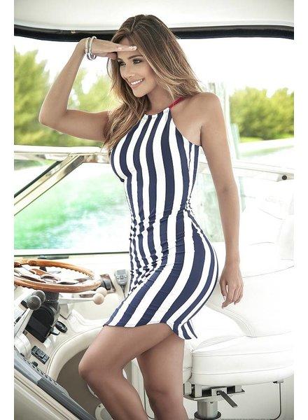 Espiral Lingerie Strak navy jurkje