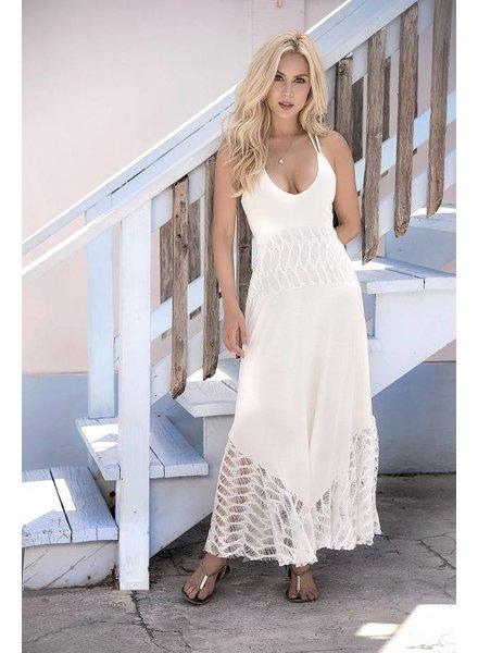Espiral Lingerie Lange jurk (ivoor)