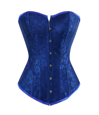 Blauw corset