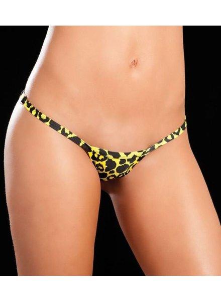 Espiral Lingerie String plastic clipje (yellow tiger)
