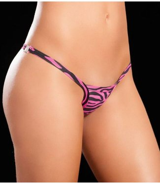 Espiral Lingerie String plastic clipje (zebra pink)