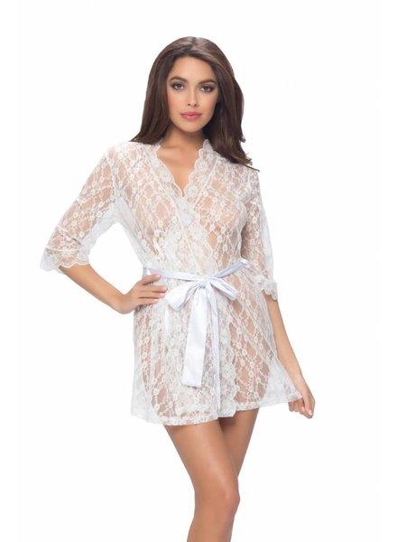 Oh La La Cheri Witte kanten kimono