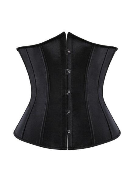 Zwart underbust corset