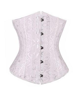 Wit underbust corset met motief