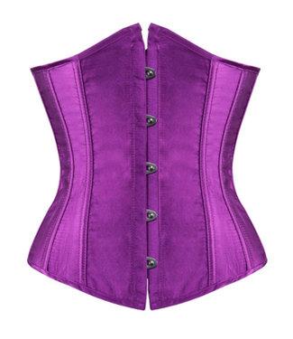 Paars underbust corset