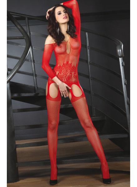 LivCo Corsetti Bodystocking Adiva (red)
