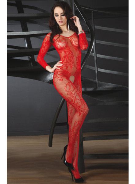 LivCo Corsetti Bodystocking Abra (red)