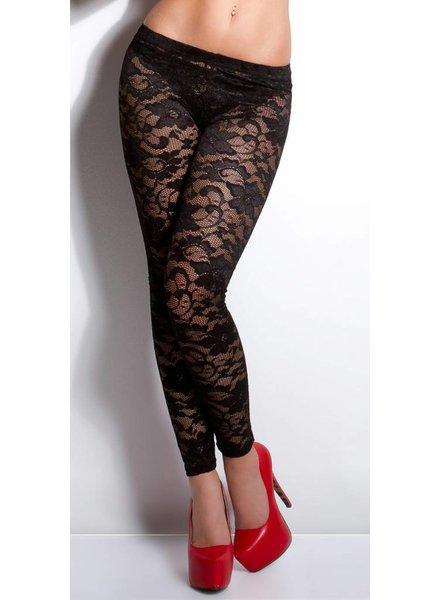 Zwarte kanten legging