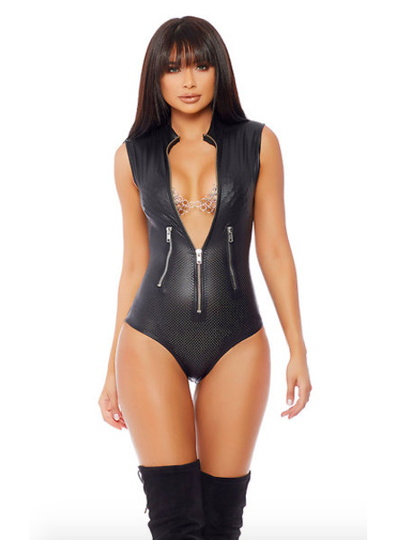 Forplay Leatherlook bodysuit