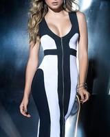 Espiral Lingerie Midi jurk zwart/wit