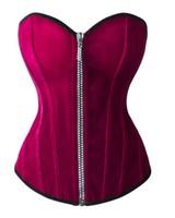 Bordeaux rood fluweel corset