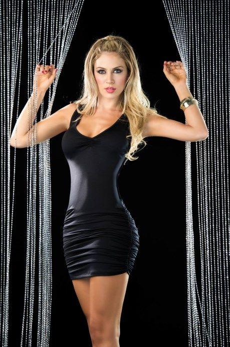 espiral lingerie sexy kleid mit offenem r cken. Black Bedroom Furniture Sets. Home Design Ideas