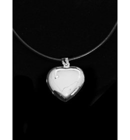 zilver medaillon: heart plain
