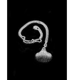 zilver jasseron collier met hanger: silver shell