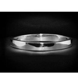 zilveren armband: plain oval