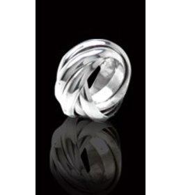 zilveren ring: infinity 5