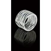 zilveren ring: shiny waves