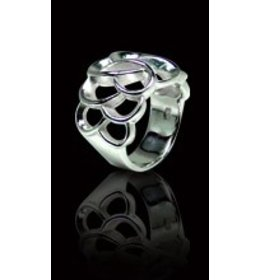 zilveren ring: fabulous matt & shiny