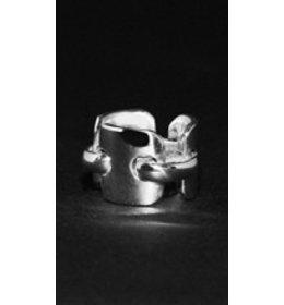zilveren ring: flex link