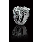 zilveren ring: ring shiny dot