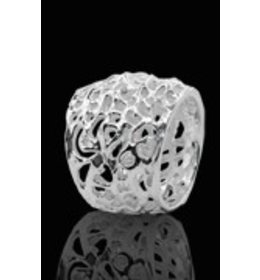 zilveren ring: bold dreads