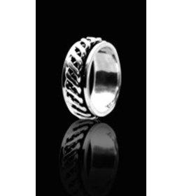 zilveren ring: spinning endless