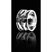 zilveren ring: black silver