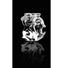 zilveren ring: tattoo art