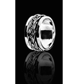 zilveren ring: spinning twine