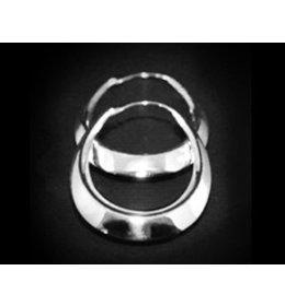 zilveren oorring: long style