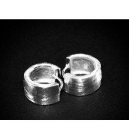 zilveren klapcreool: matt design